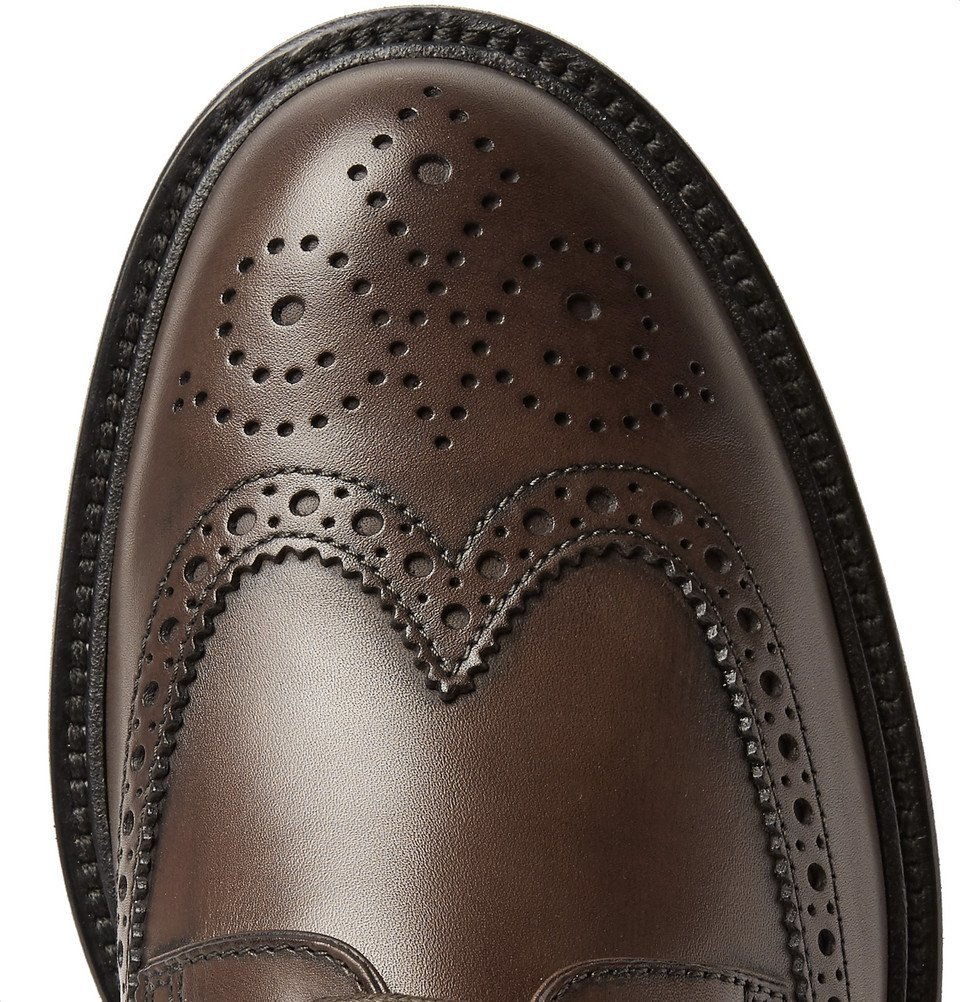 Tod's - Leather Wingtip Brogues - Men - Brown