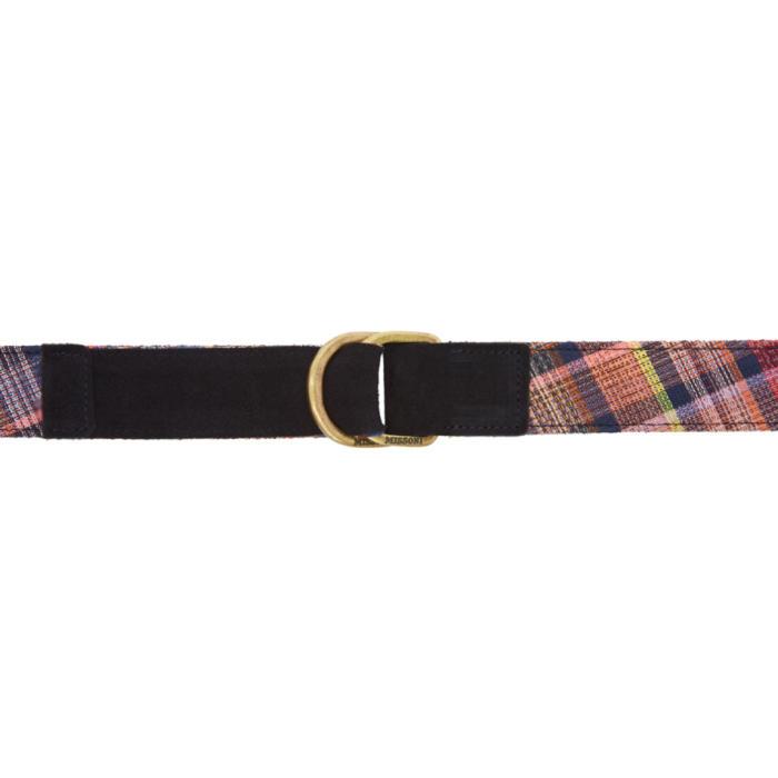 Photo: Missoni Blue Check Pattern Belt