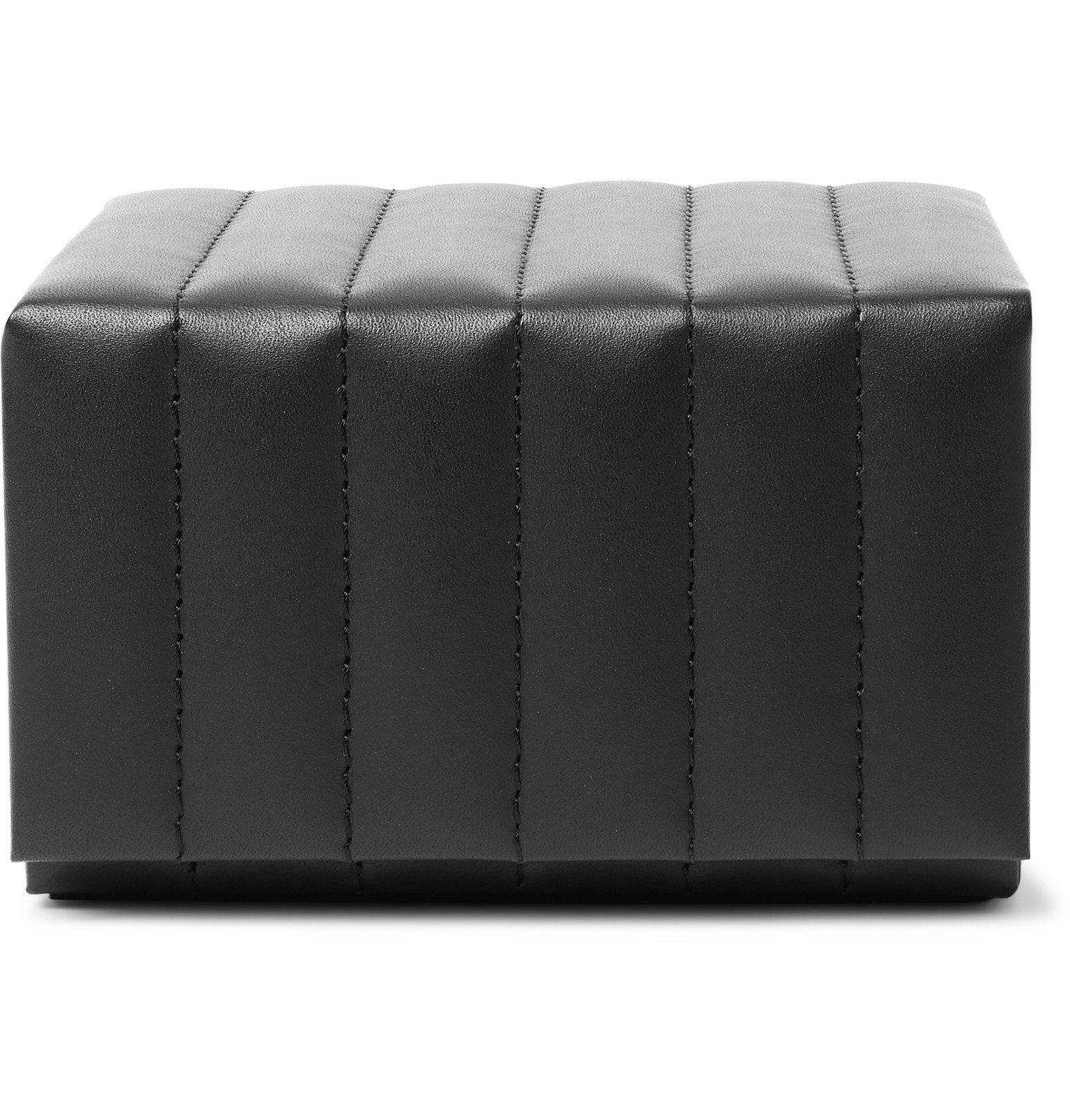 Photo: Ralph Lauren Home - Cooper Quilted Leather Watch Box - Black