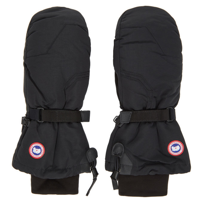 Photo: Canada Goose Black Down Arctic Mittens