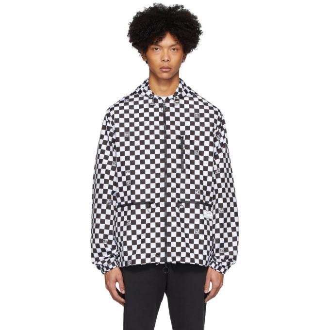 Photo: Axel Arigato Black and White Grid Windbreaker Jacket
