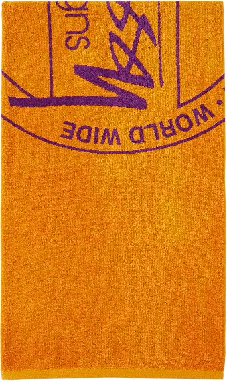 Photo: Stüssy Orange Jacquard Dot Towel