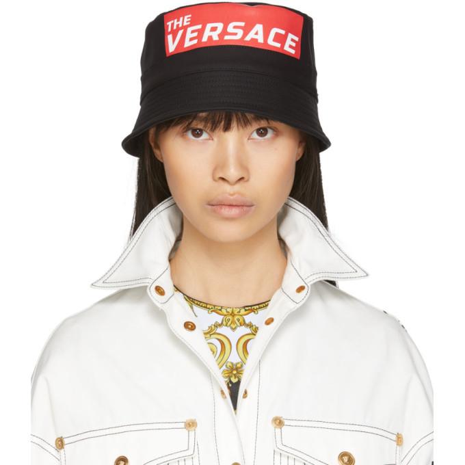 Photo: Versace Black The Versace Bucket Hat