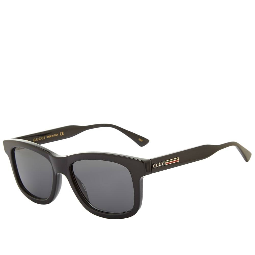 Photo: Gucci Rectangular Frame Acetate Sunglasses