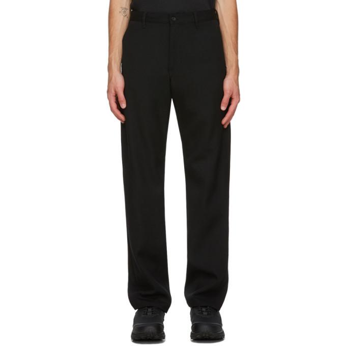 Comme des Garcons Homme Plus Black Wool Gabardine Trousers