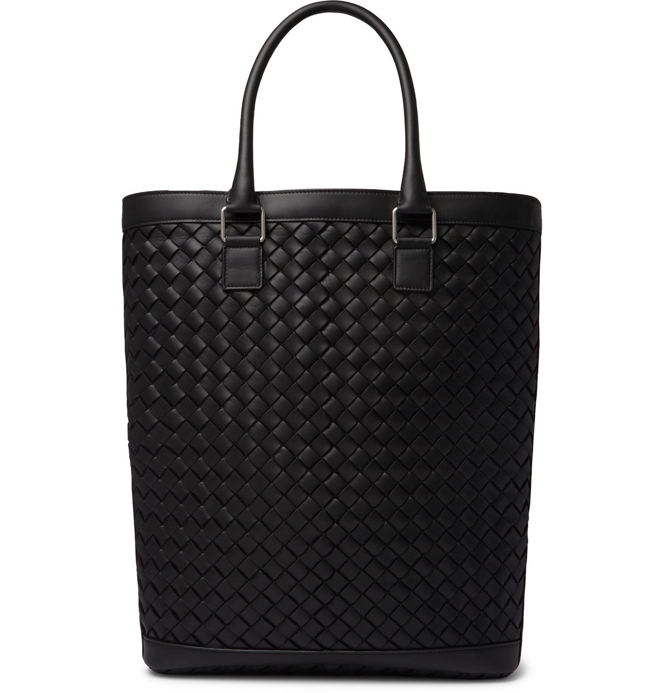Photo: Bottega Veneta - Intrecciato Leather Tote Bag - Black