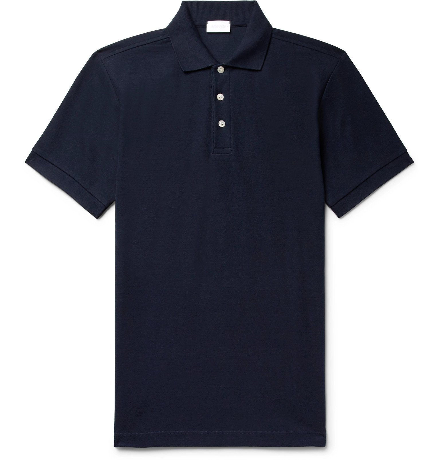 Photo: Handvaerk - Pima Cotton-Piqué Polo Shirt - Blue