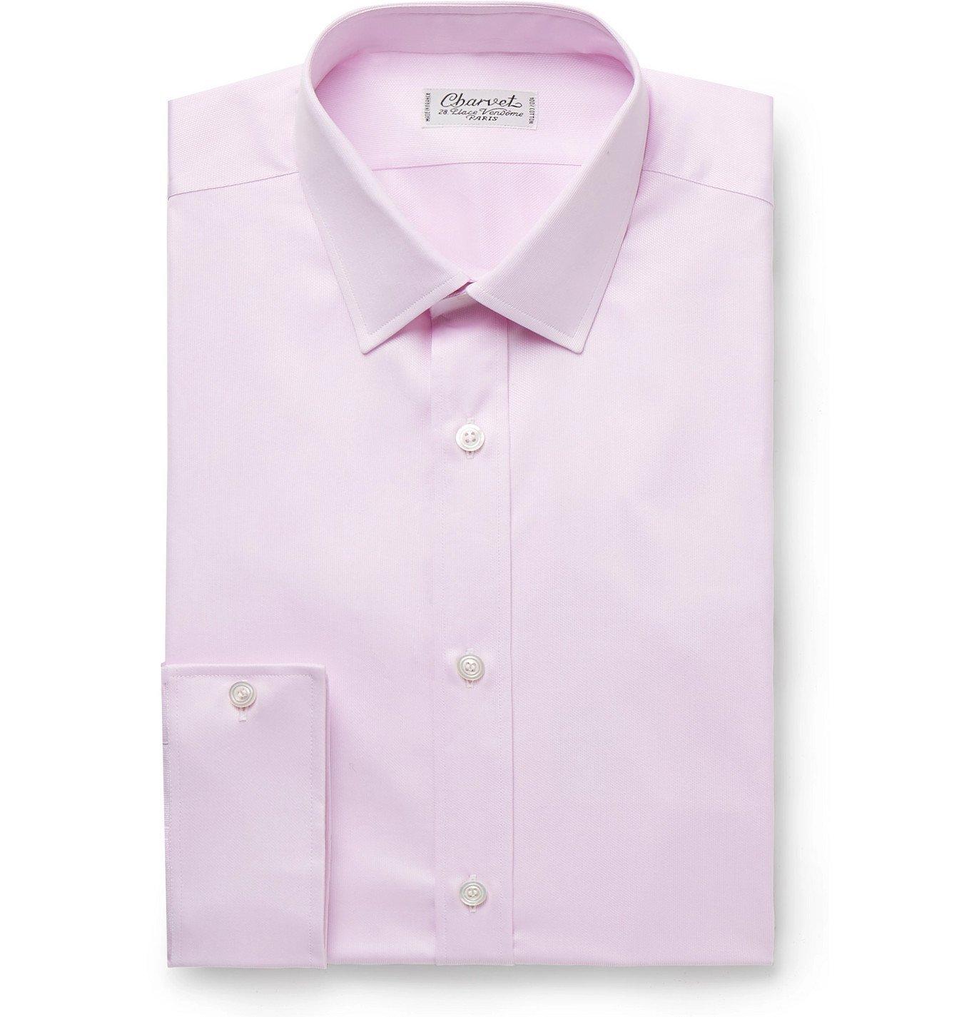 Photo: Charvet - Lilac Cotton-Piqué Shirt - Purple