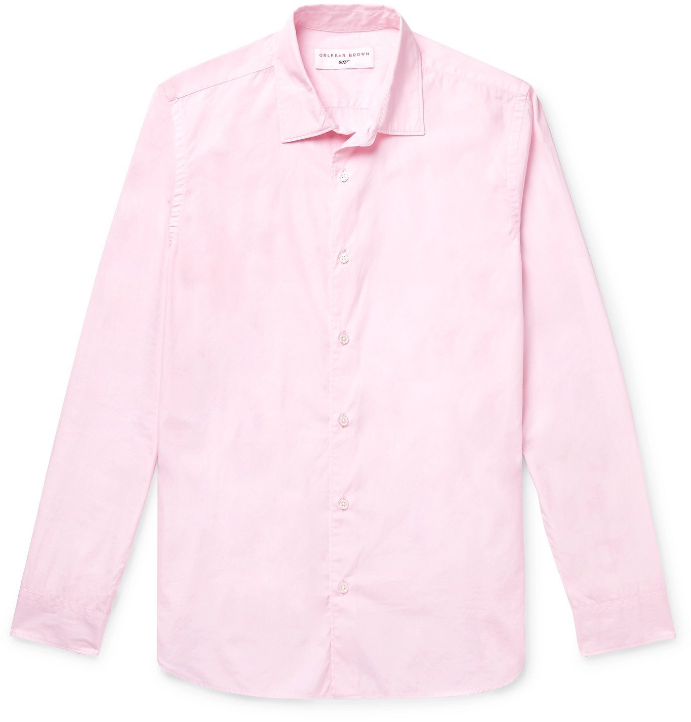 Photo: Orlebar Brown - 007 You Only Live Twice Slim-Fit Cotton Shirt - Pink