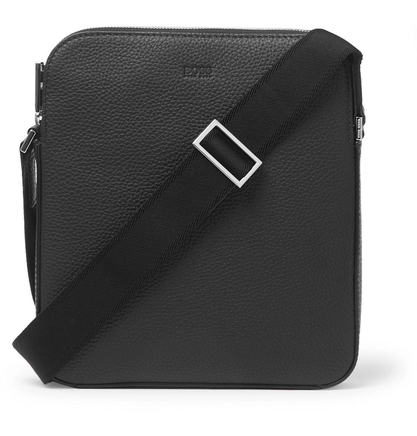 Photo: Hugo Boss - Crosstown Full-Grain Leather Messenger Bag - Black