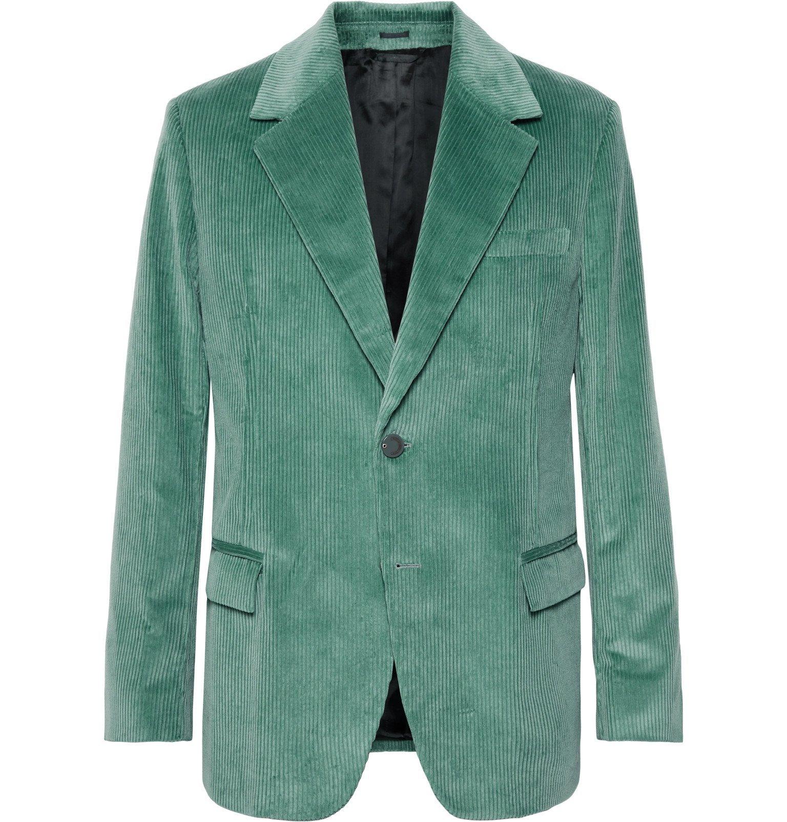 Photo: Acne Studios - Mint Jagger Cotton-Corduroy Suit Jacket - Green