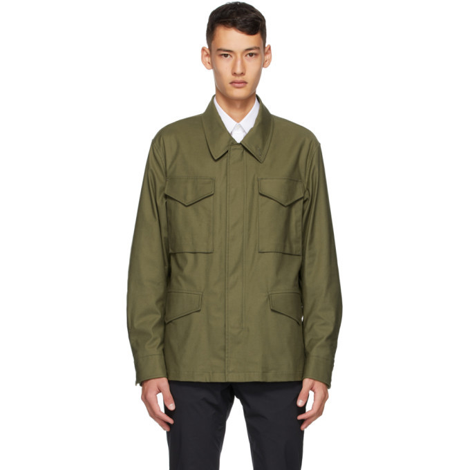 Dunhill Green Twill Field Jacket