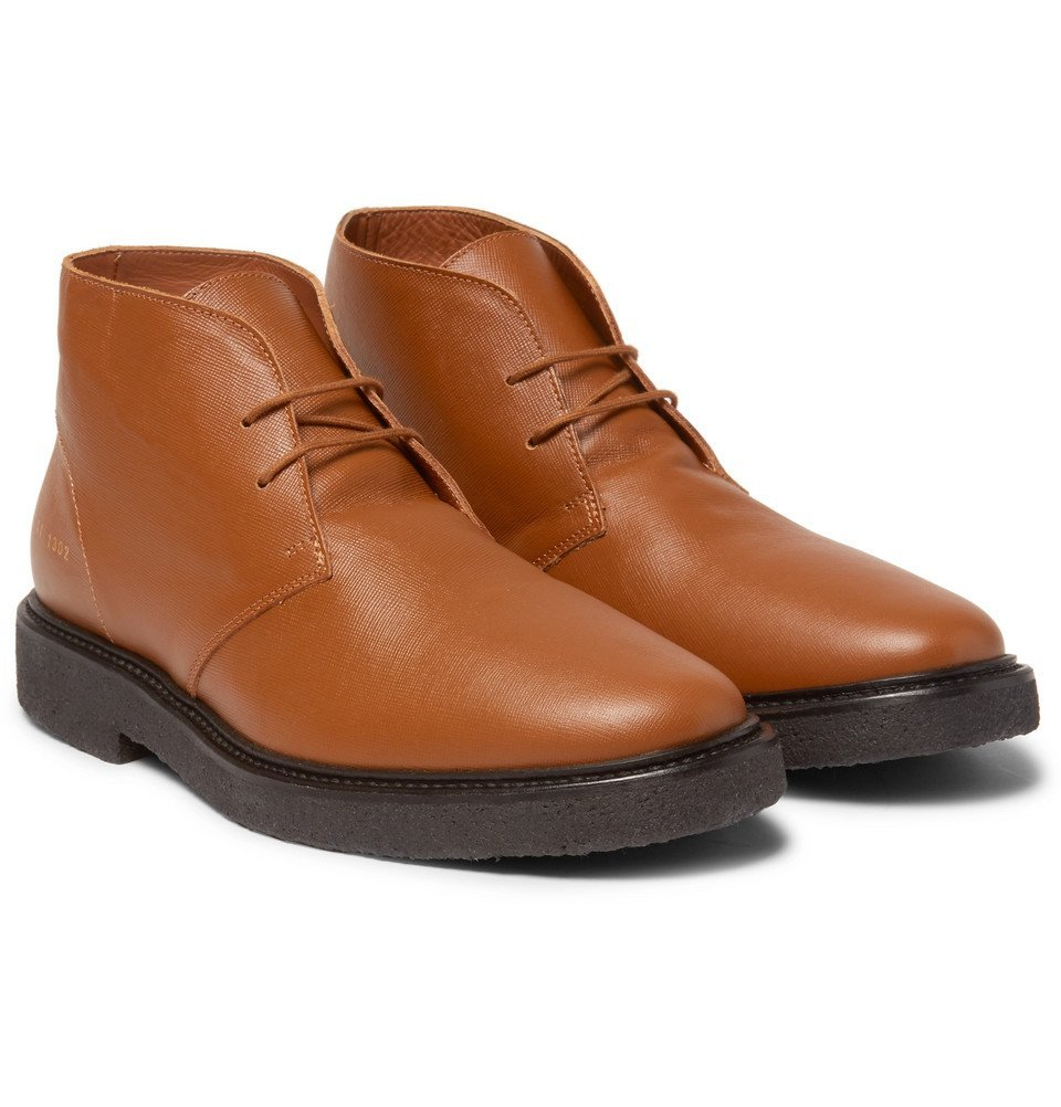 Common Projects - Saffiano Leather Desert Boots - Men - Brown