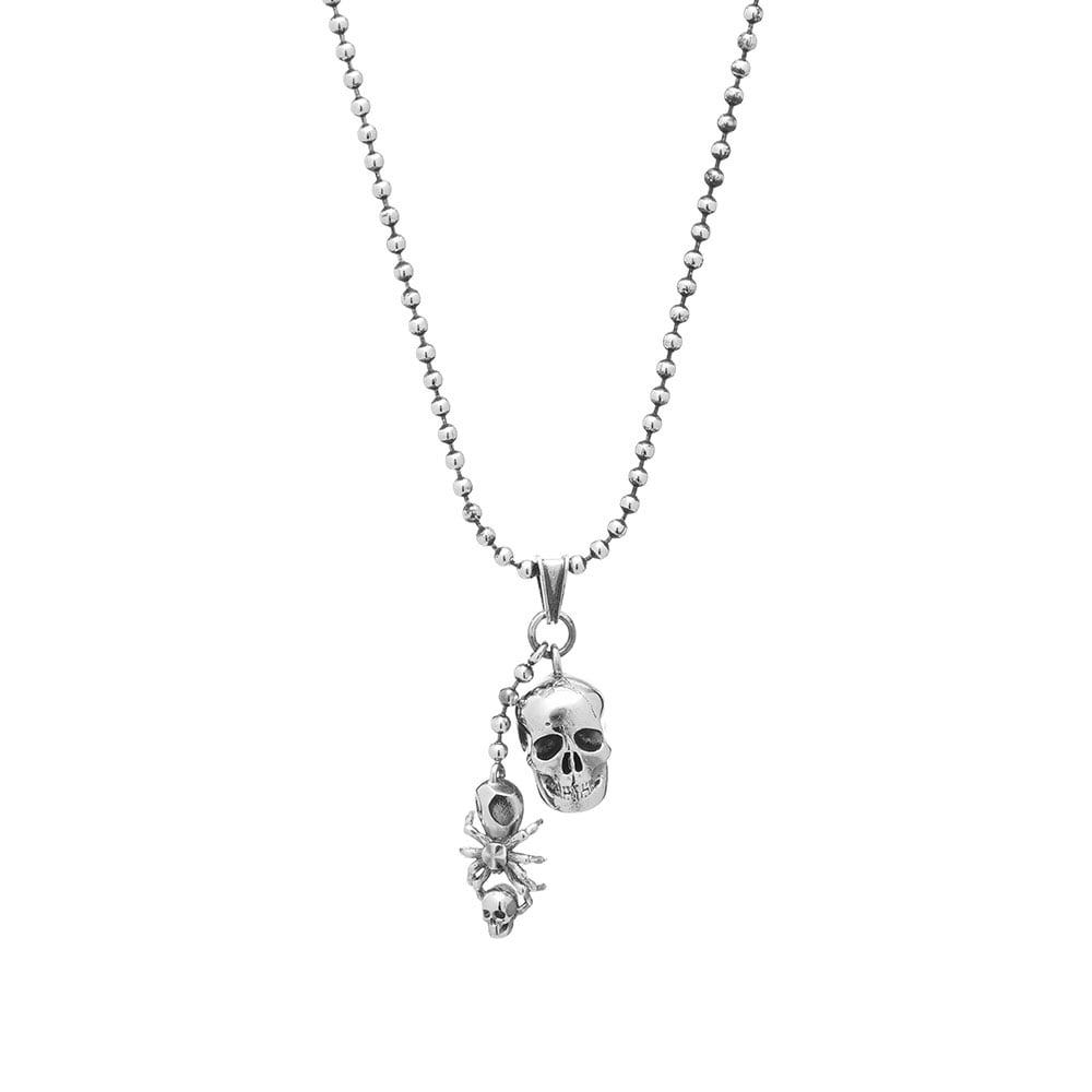 Photo: Alexander McQueen Skull And Spider Necklace