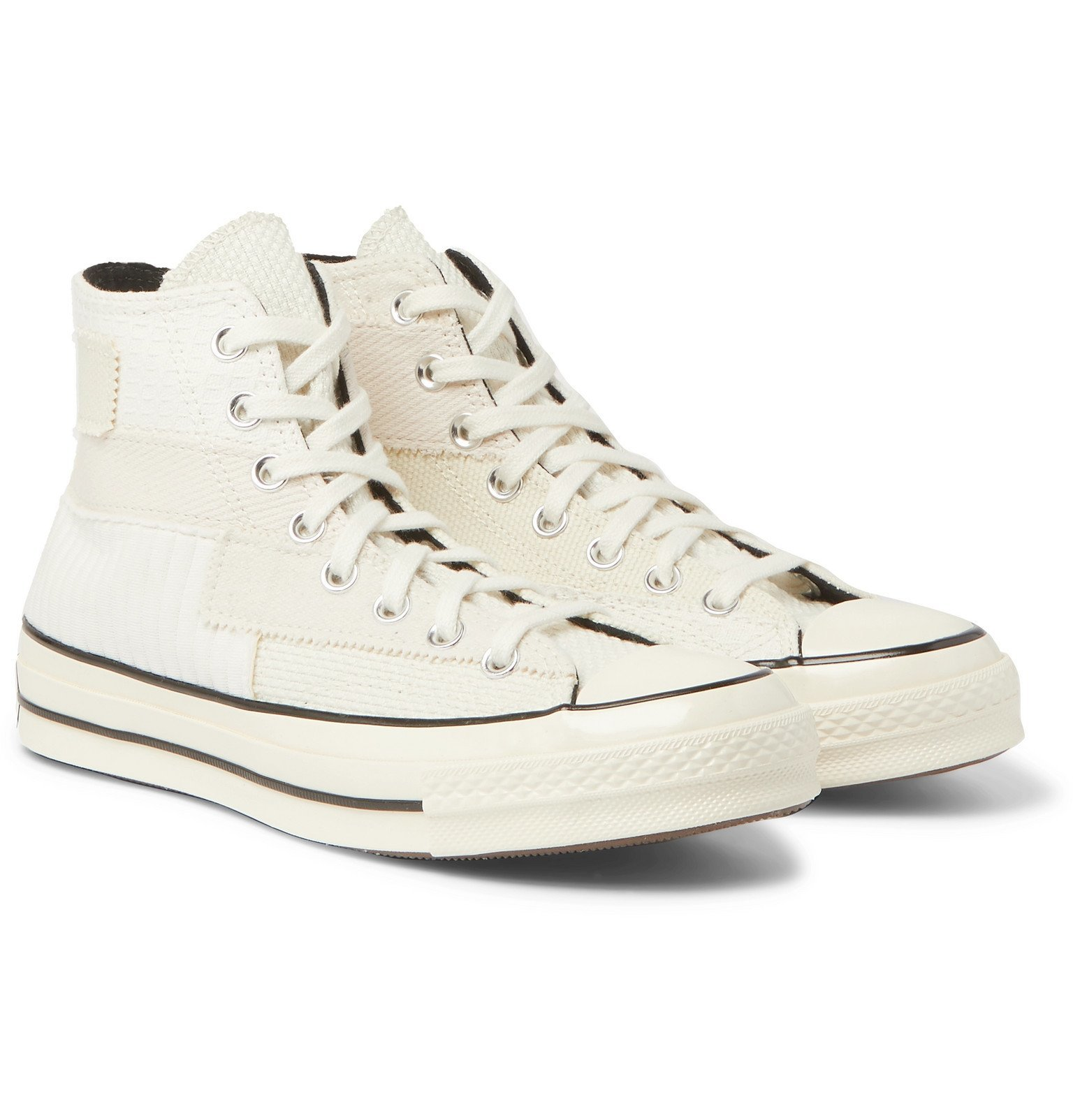 Photo: Converse - Chuck 70 Patchwork Canvas and Twill High-Top Sneakers - Neutrals