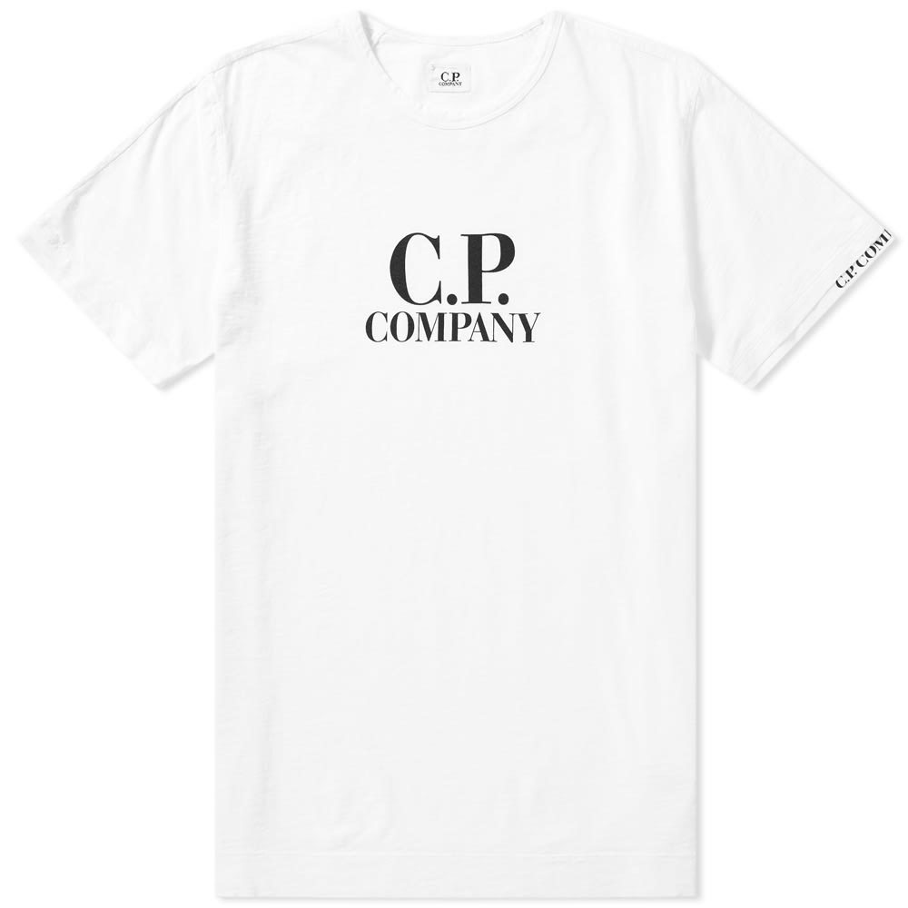 Photo: C.P. Company Logo Print Slub Tee