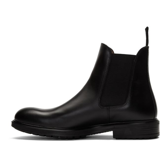 Officine Generale Black Calfskin Chelsea Boots