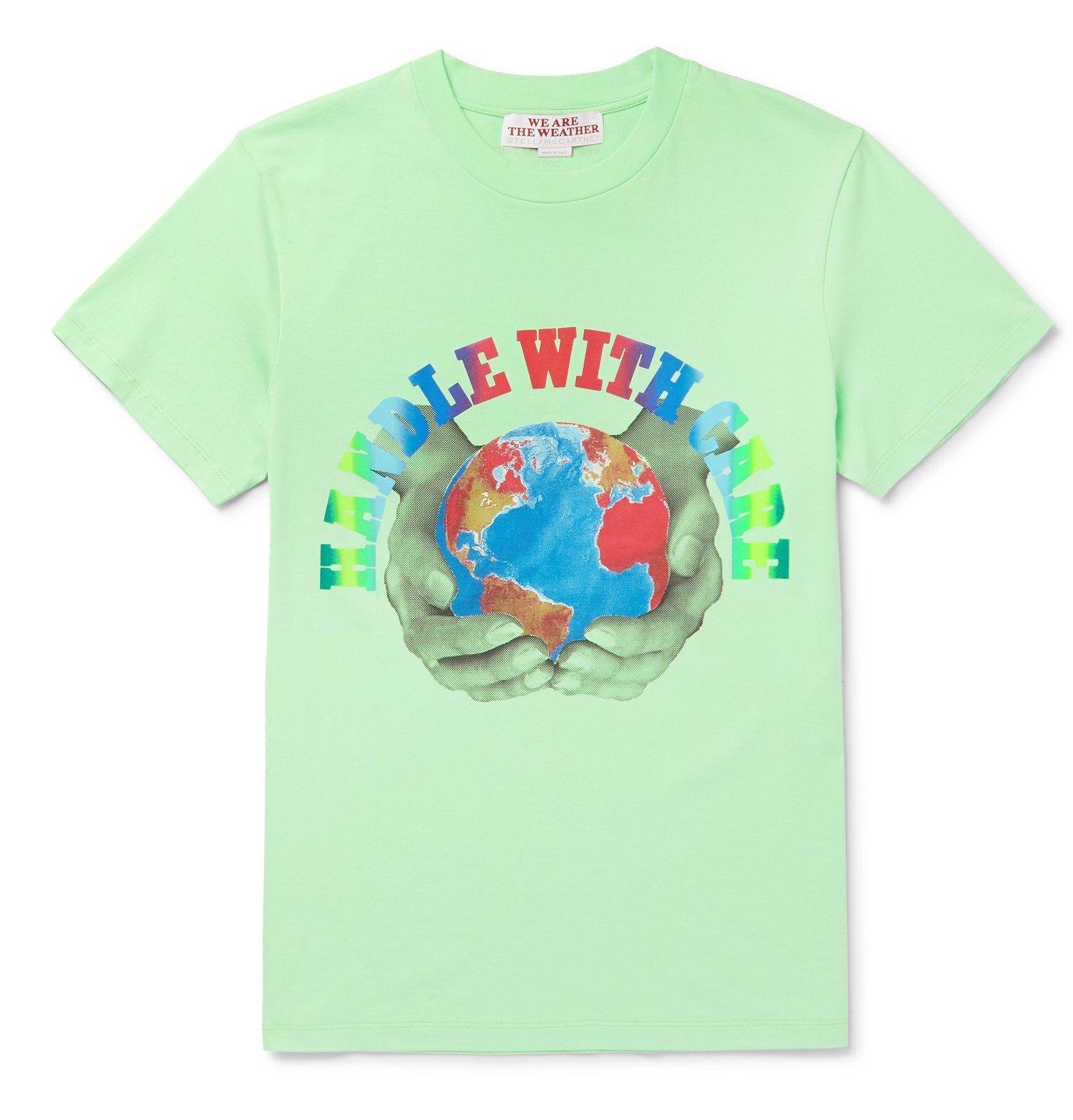 Stella McCartney - Slim-Fit Printed Organic Cotton-Jersey T-Shirt - Green