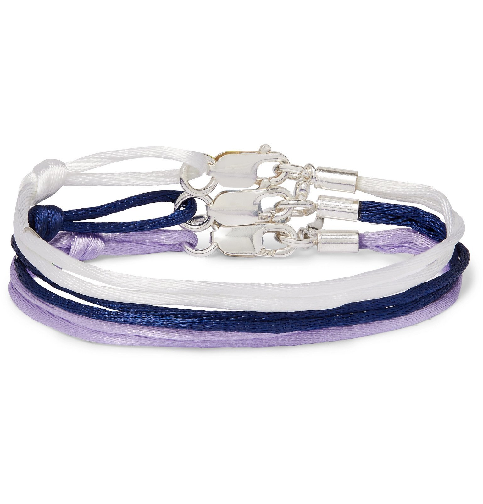 Photo: Rubinacci - Set of Three Silk Bracelets - Purple