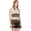 Raf Simons Off-White Striped Knit Star Vest