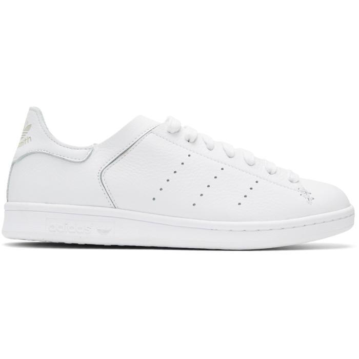 adidas Originals White Stan Smith Lea Sock Sneakers