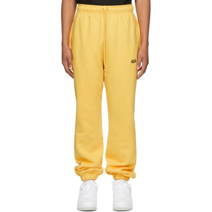 Photo: 424 Yellow Logo Lounge Pants