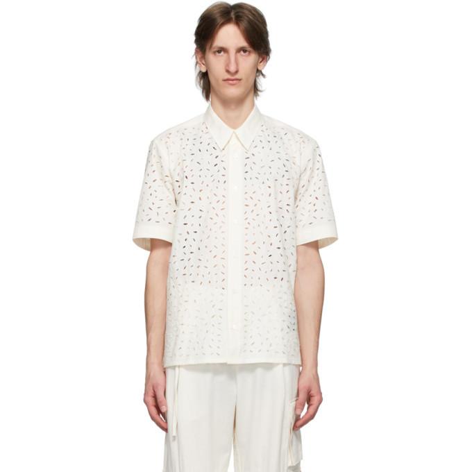 Photo: AMI Alexandre Mattiussi Off-White Broderie Anglaise Shirt