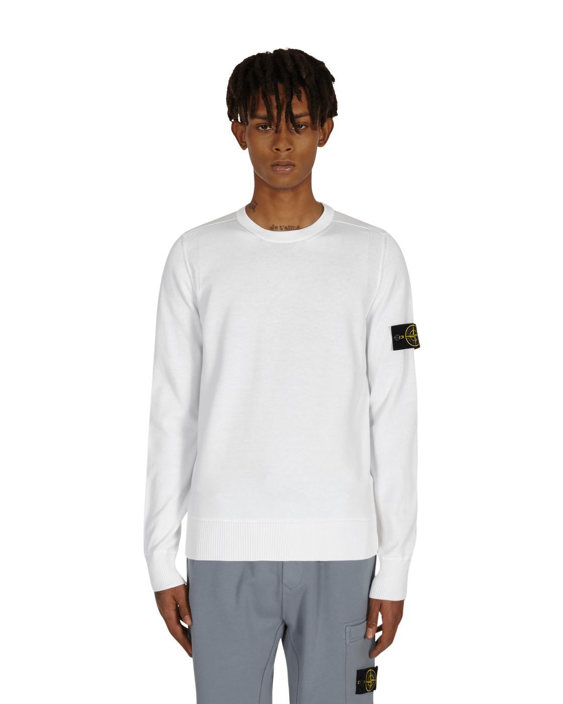Stone Island Basic Crewneck Sweater White