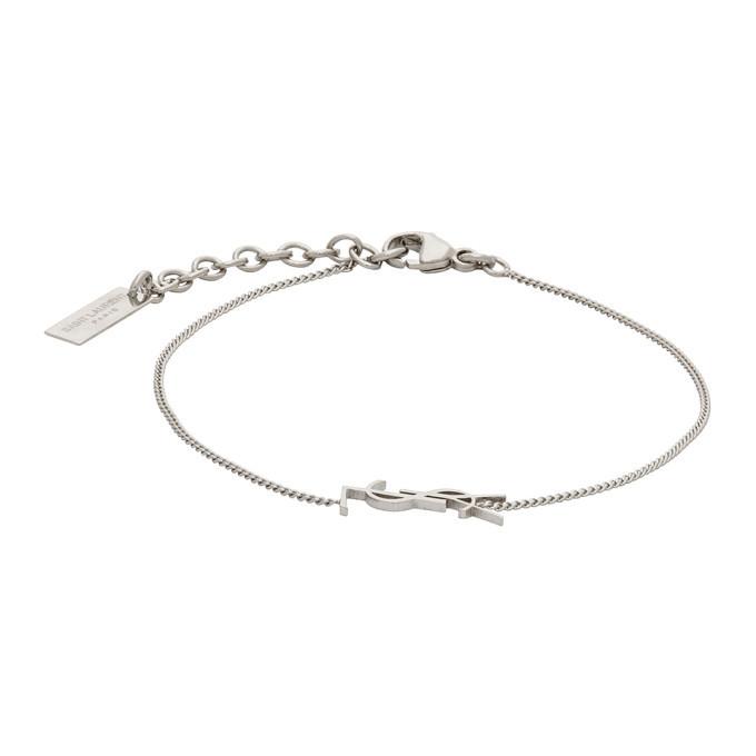 Photo: Saint Laurent Silver Charm Bracelet