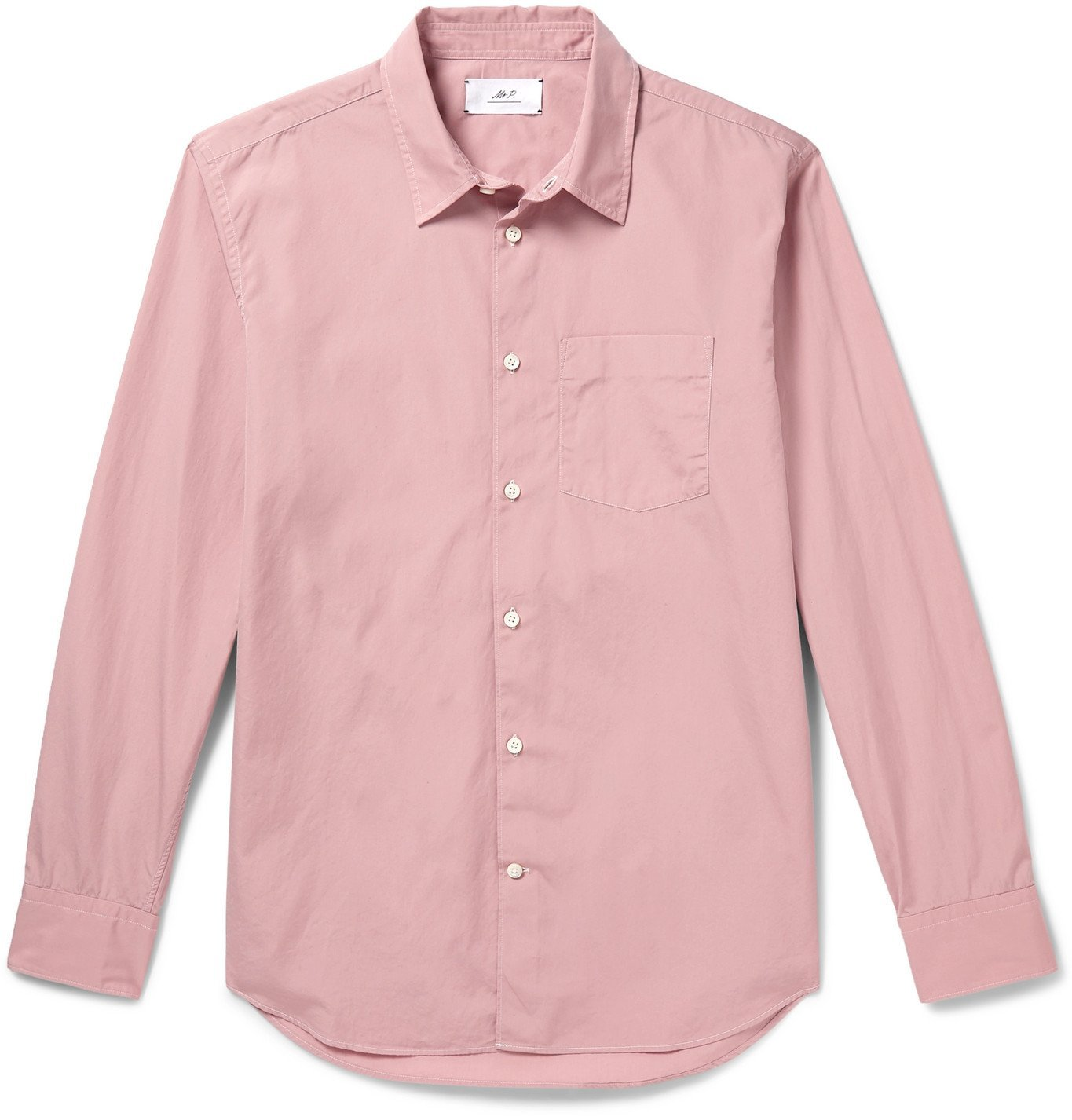 Photo: Mr P. - Slim-Fit Cotton-Poplin Shirt - Pink