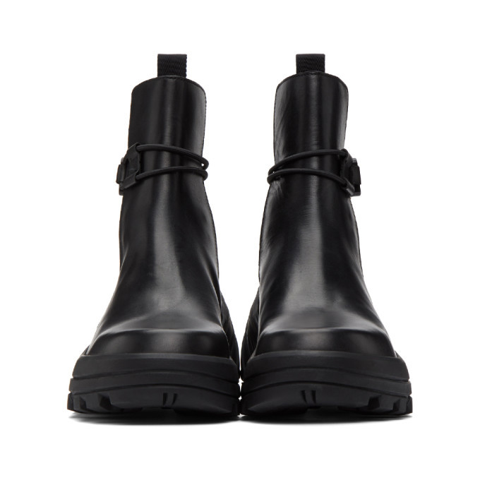1017 ALYX 9SM Black Buckle Fixed SKX Sole Chelsea Boots