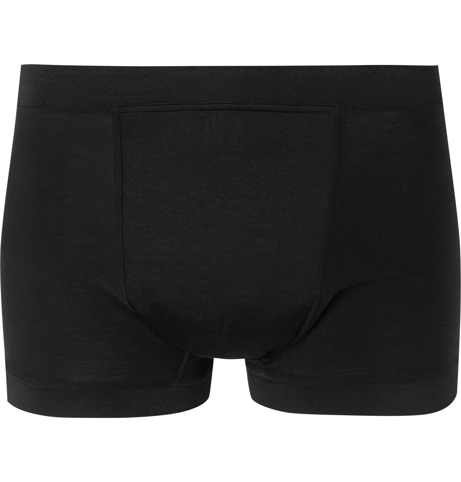 Photo: Secondskin - Silk-Jersey Boxer Briefs - Black