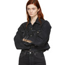 Acne Studios Black Denim Oriana Jacket