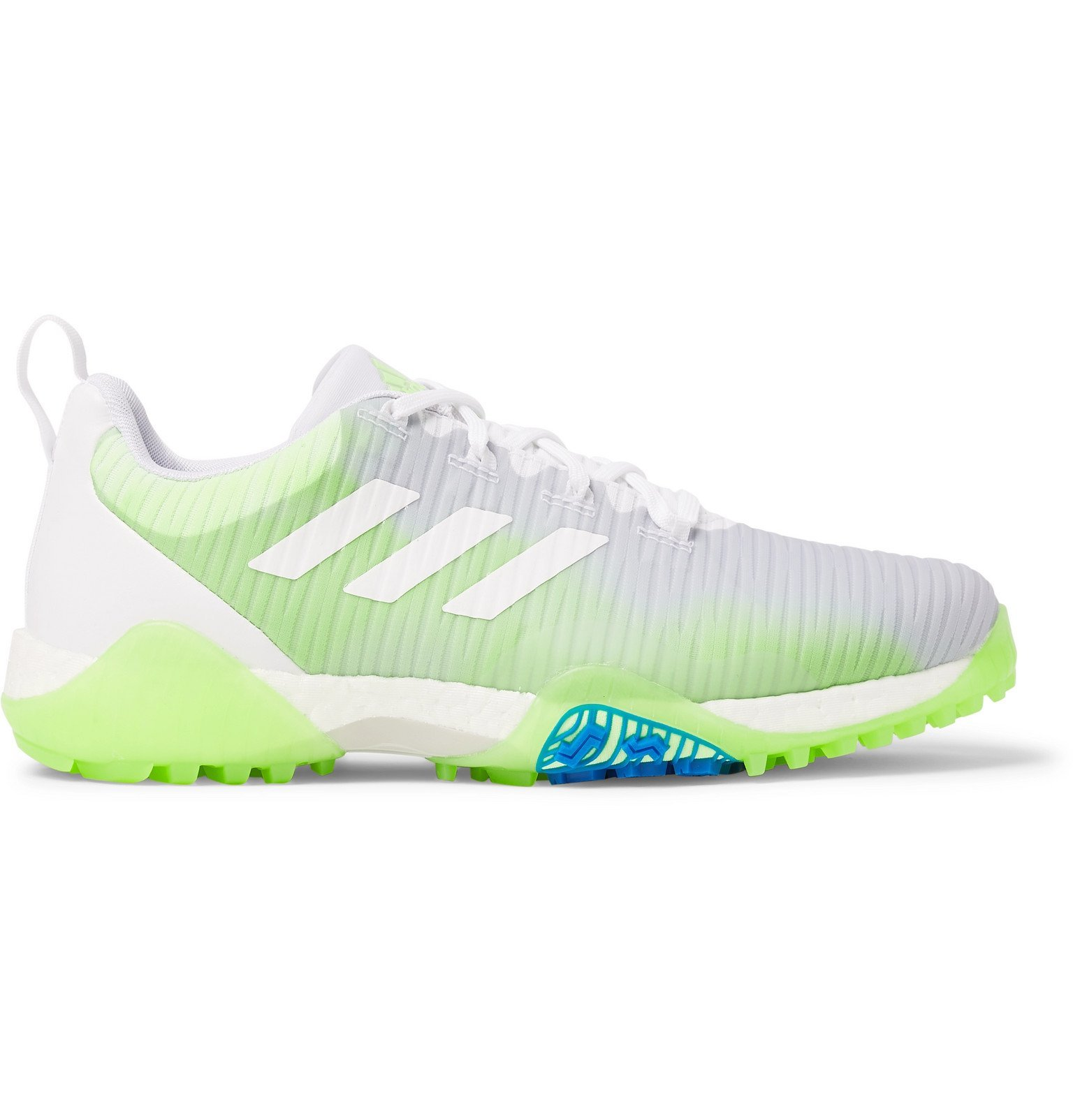 Photo: Adidas Golf - CodeChaos Coated-Mesh and Faux Leather Golf Shoes - Green