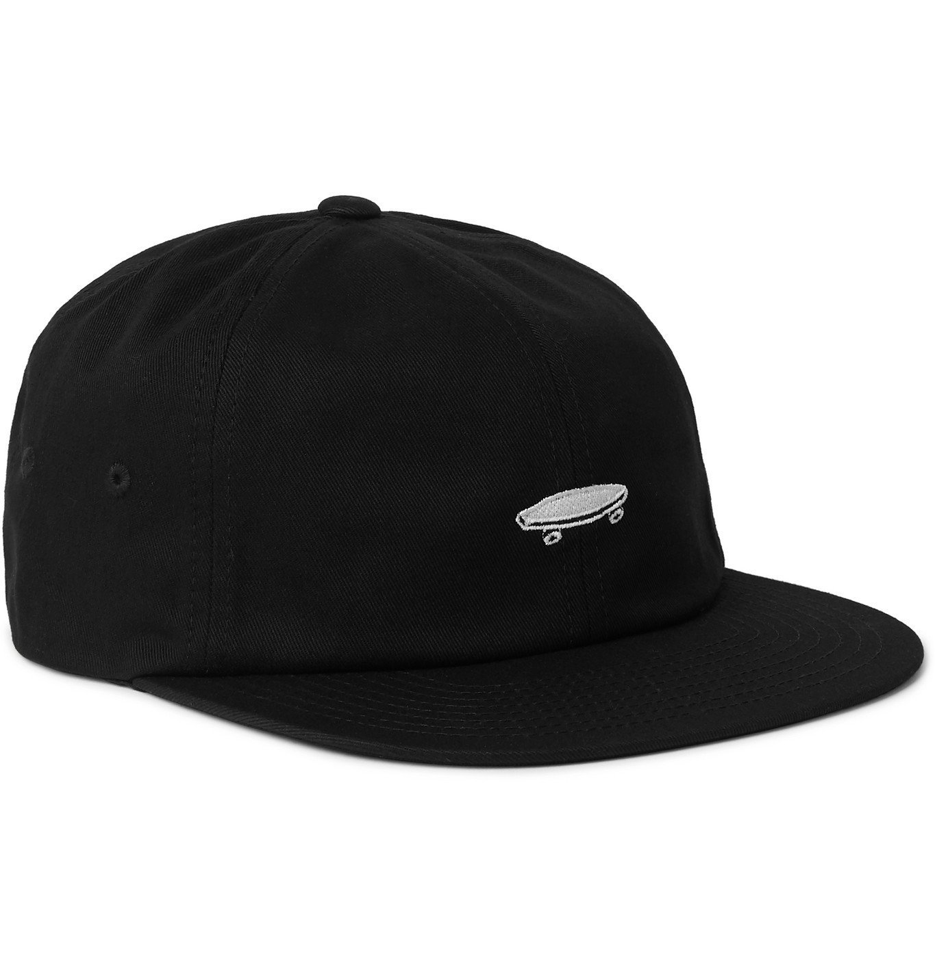Photo: Vans - Salton II Jockey Logo-Embroidered Cotton-Twill Baseball Cap - Black