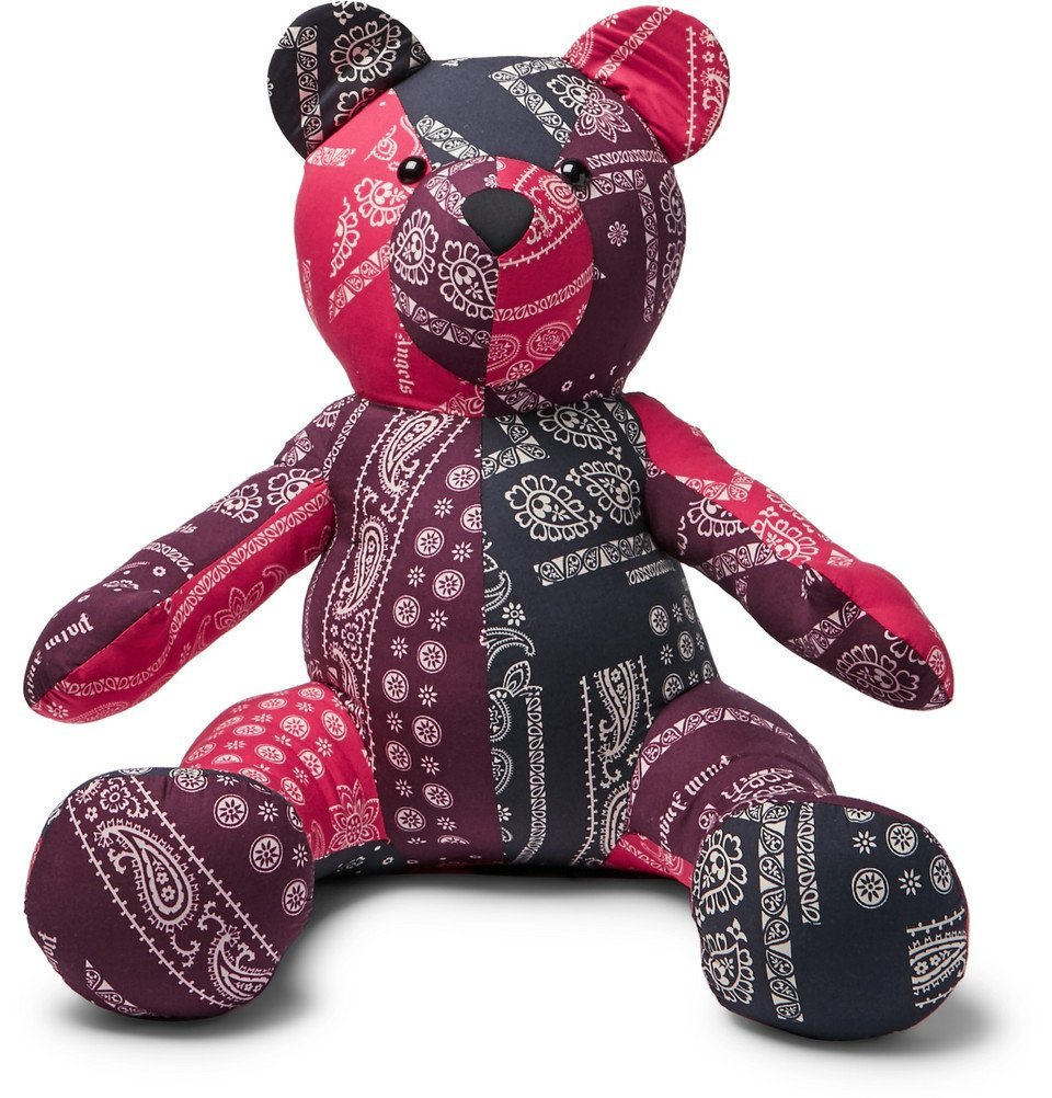 Photo: Palm Angels - Bandana-Print Cotton Stuffed Bear - Multi