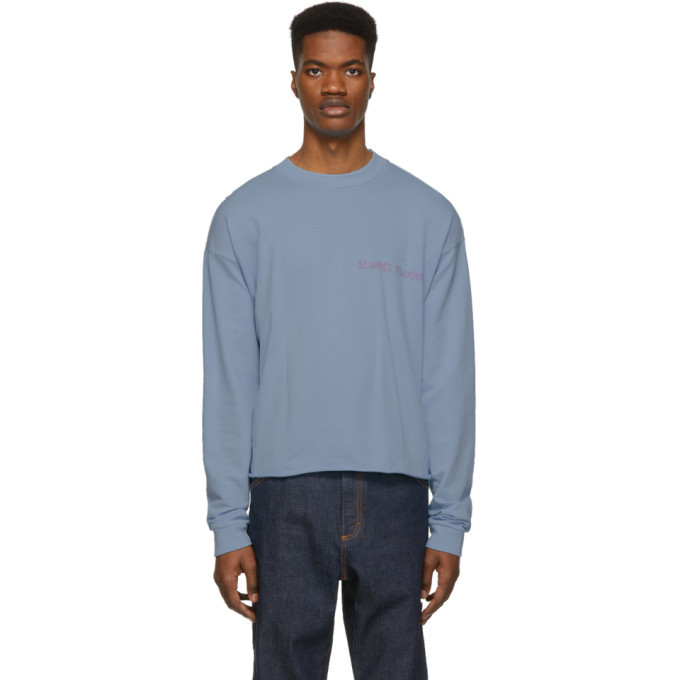 Photo: Nasaseasons SSENSE Exclusive Blue Almost Famous Long Sleeve T-Shirt