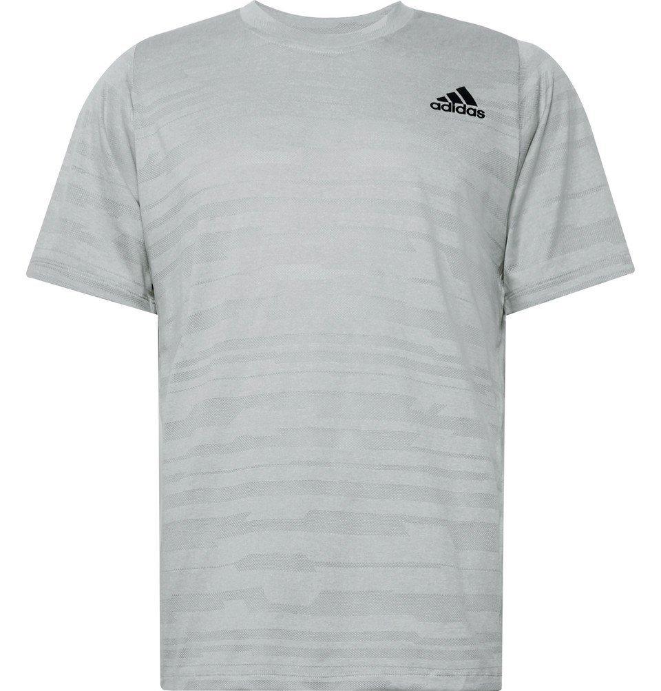 Photo: Adidas Sport - FreeLift Engineered Climalite T-Shirt - Light gray