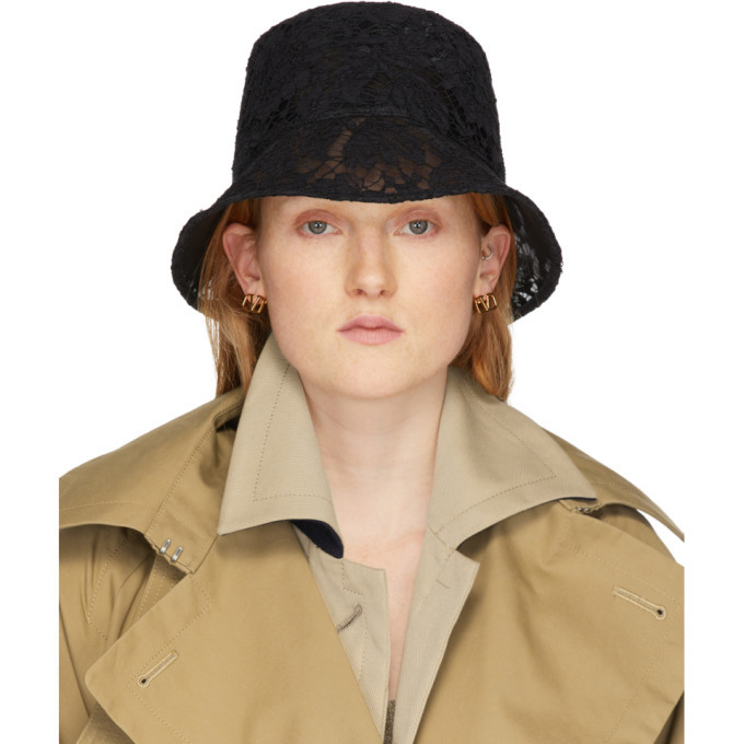 Photo: Valentino Black Valentino Garavani Lace Bucket Hat