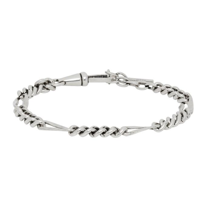 Photo: Saint Laurent Silver Scroll-Chain Bracelet