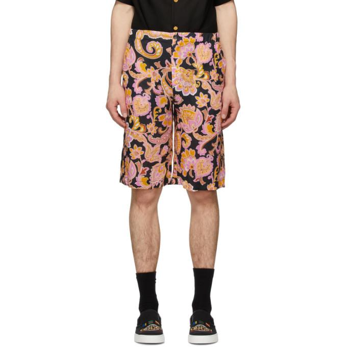 Photo: Gucci Black and Pink Eige Print Shorts