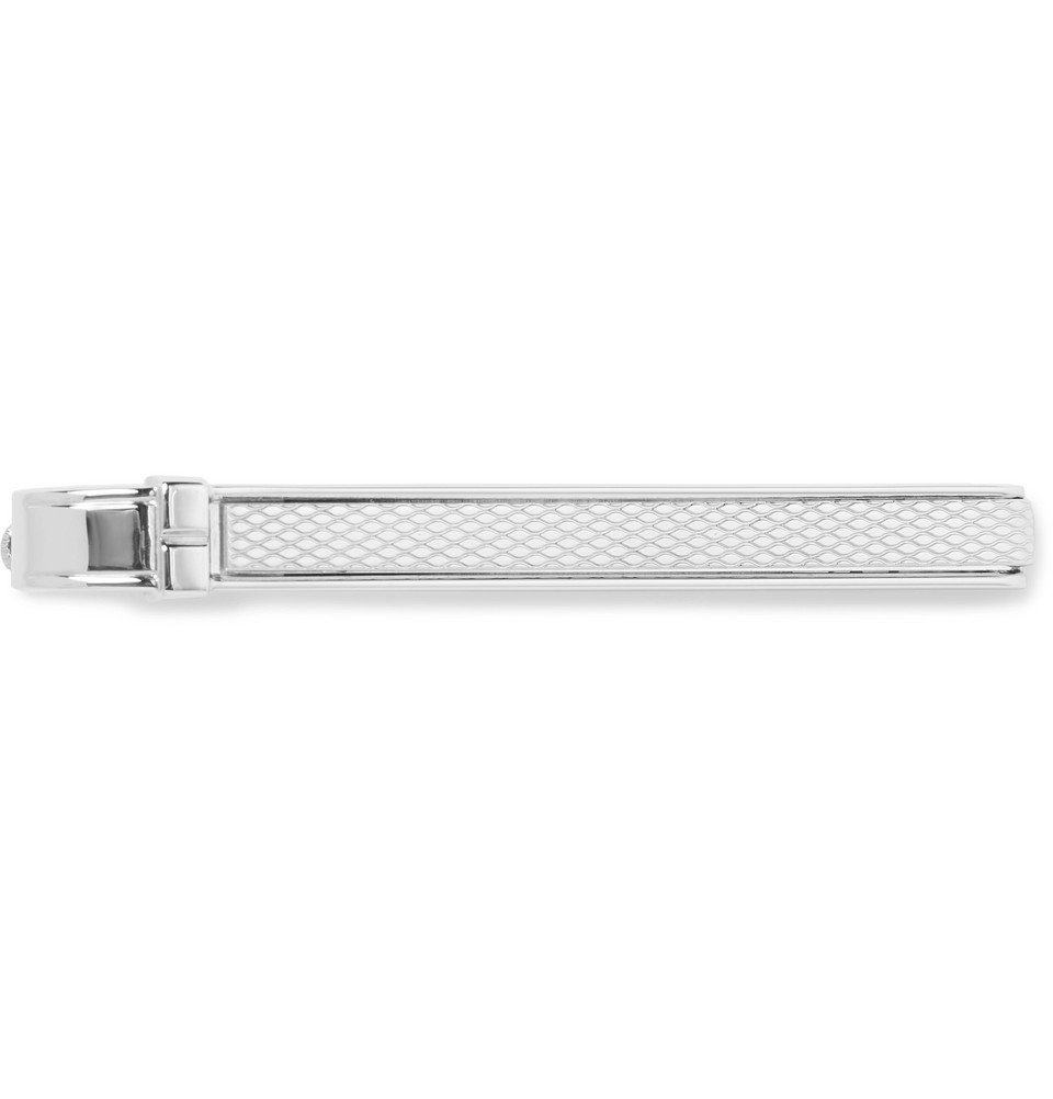 Dunhill - Barley Engine-Turned Silver-Tone Tie Clip - Men - Silver