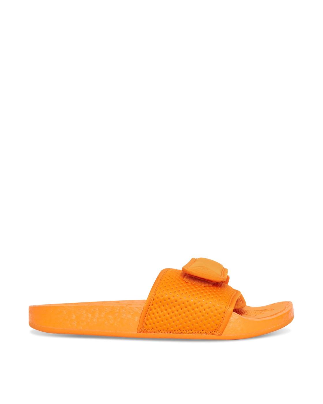 Adidas Originals Pharrell Williams Boost Slides Bright Orange