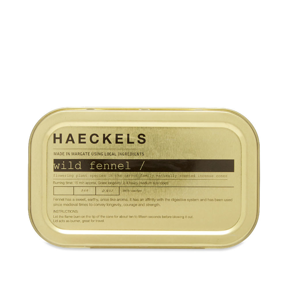 Photo: Haeckels Wild Fennel Incense Cones