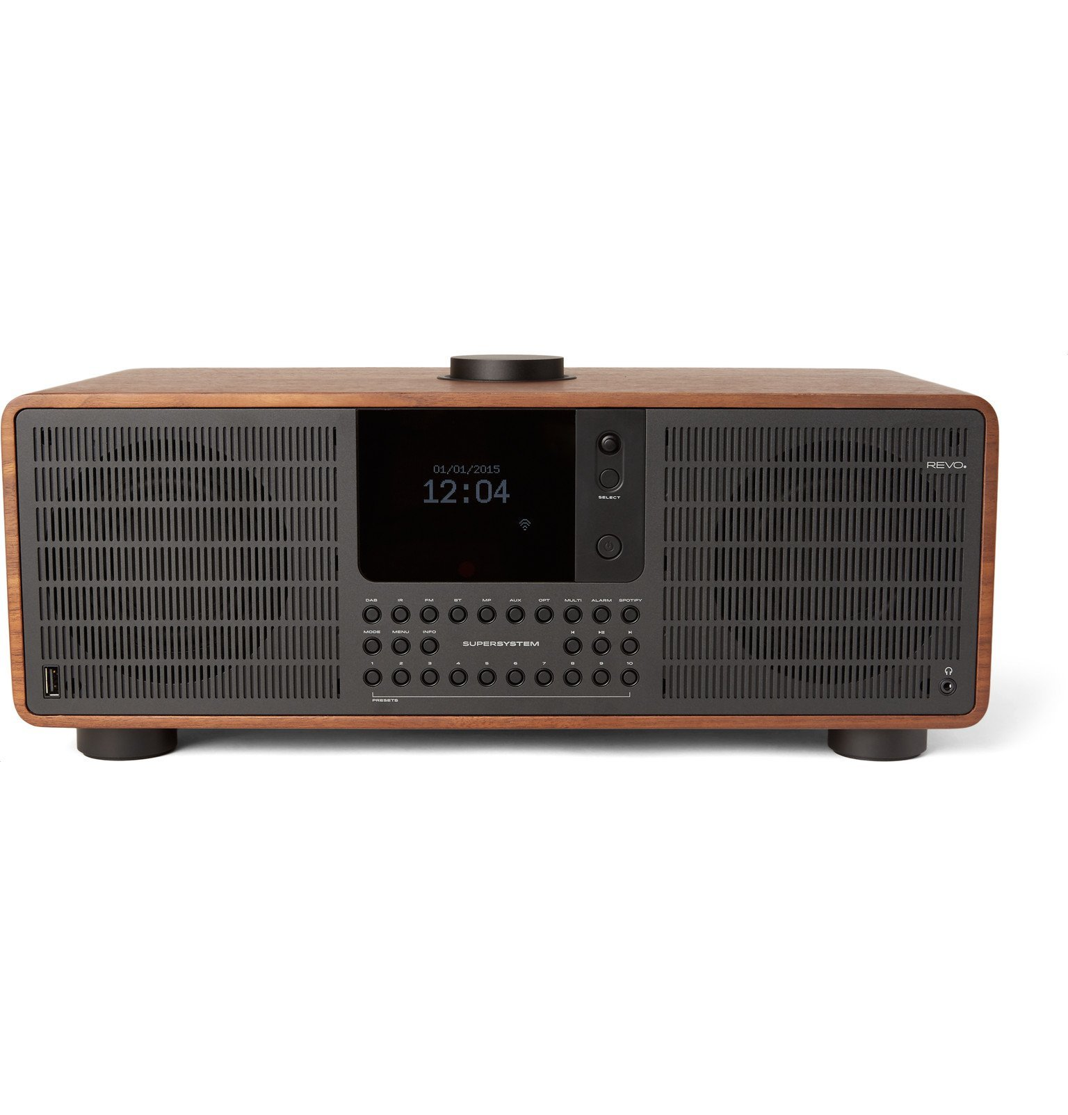 Photo: Revo - SuperSystem All-Digital Radio and Music Player - Brown