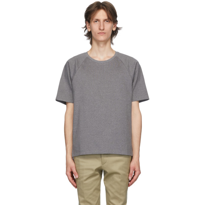 Photo: Thom Browne Grey Interlocking Stripe T-Shirt