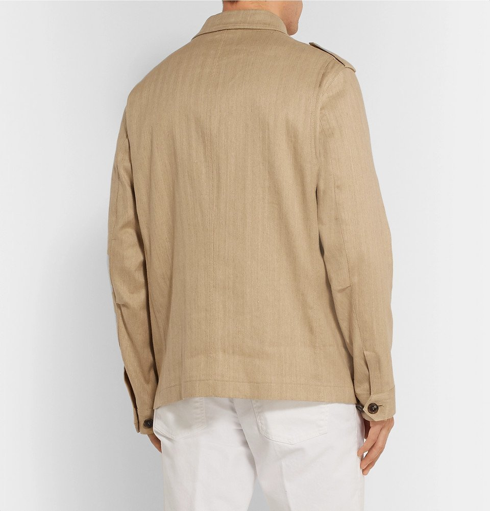 Tod's - Sahariana Washed Cotton and Linen-Blend Field Jacket - Beige