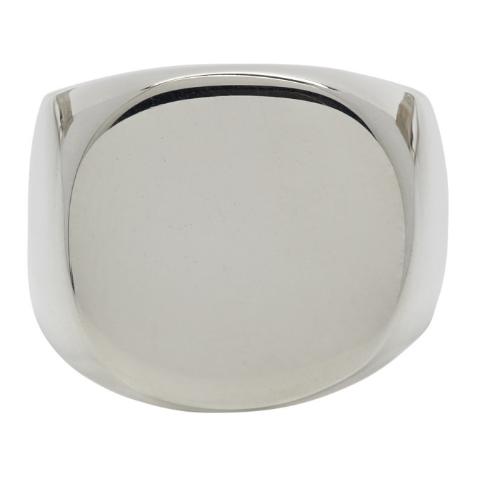 Photo: Bleue Burnham Silver The Solid Signet Ring