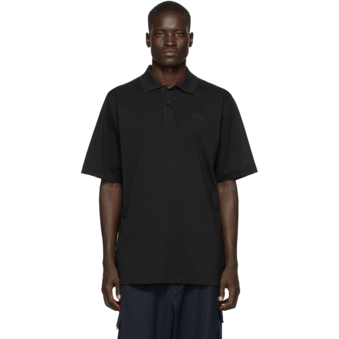 Photo: Y-3 Black Classic Pique Polo