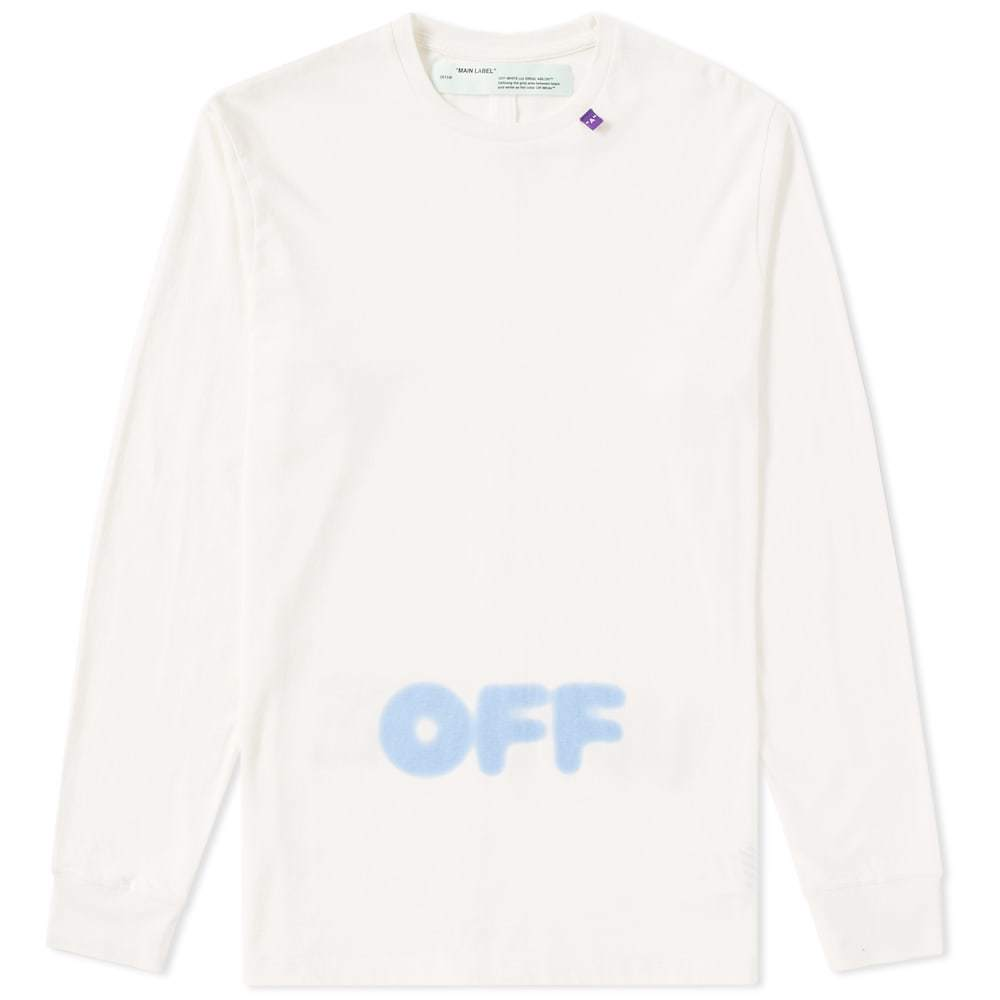 Photo: Off-White Long Sleeve Blurred Off Tee